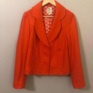 Tulle Orange Blazer Size Medium